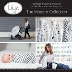 Lulujo Bamboo Modern Collection - Muslin Swaddling Blankets