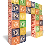 French ABC Alphabet Blocks