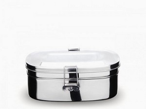 Stainless Steel 2 Layer Sandwich Box (Large)