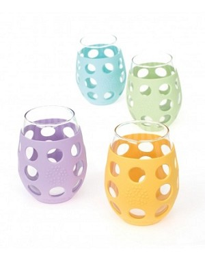 LifeFactory Wine Glass 11oz (4 pack) Multi-Colour