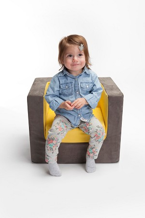 Cubino Chair - Yellow - LAST ONE LEFT!
