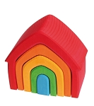 grimm's stacking house, 5 pcs multi-colored