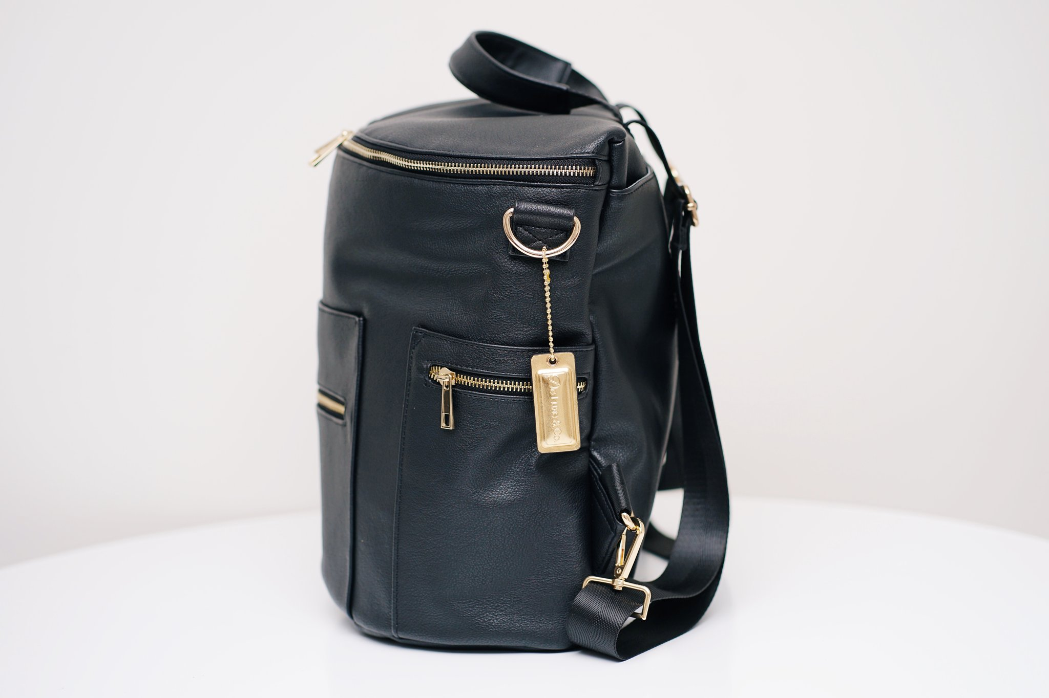 De Luxe and Co Diaper Anytime Backpack - Vegan Leather Black