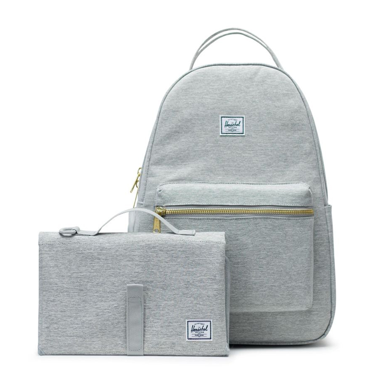 Herschel Nova Sprout Diaper Backpack - Light Grey Crosshatch