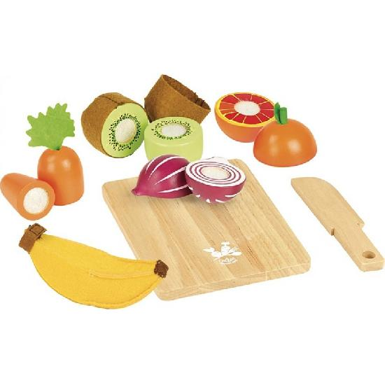Vilac Wooden Fruit and Veggie Chopping Set