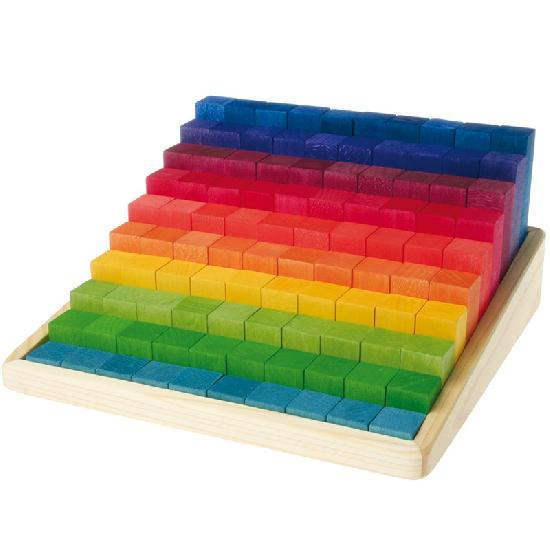 Grimm's Stepped Counting Blocks (100pcs) (4cm)