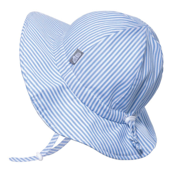 Floppy Sun Hat - Blue Stripes - Gro With Me
