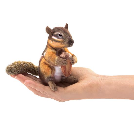Folkmanis Chipmunk with Acorn Finger Puppet