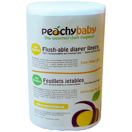 Peachy Baby Flushable Liners