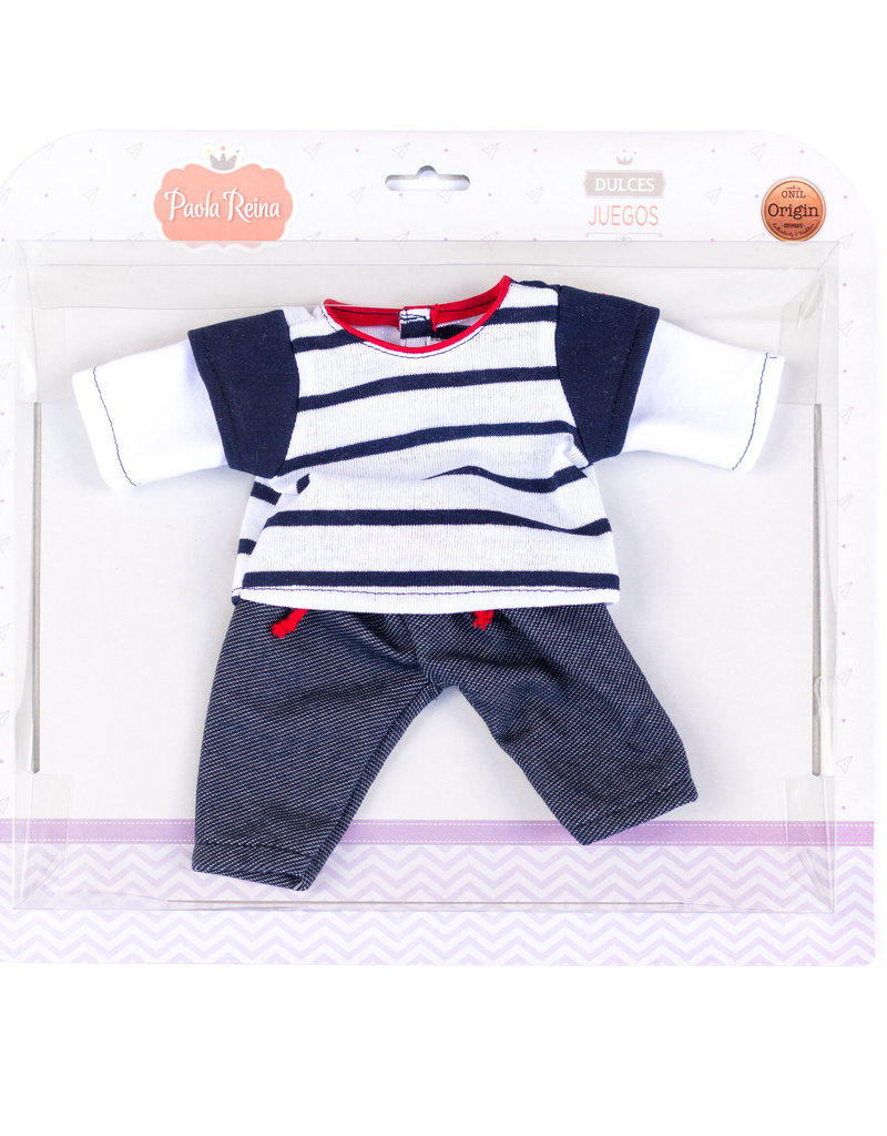 Doll Clothing - Navy Striped Shirt and Jeans