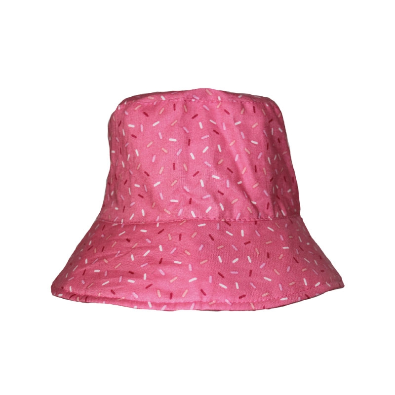 Sherpa Bucket Hat - Pink Candies - 3-6 months