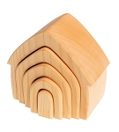 grimm's stacking house, 5 pcs natural