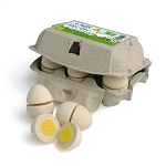 Erzi Carton of Eggs to Slice - 6 pack