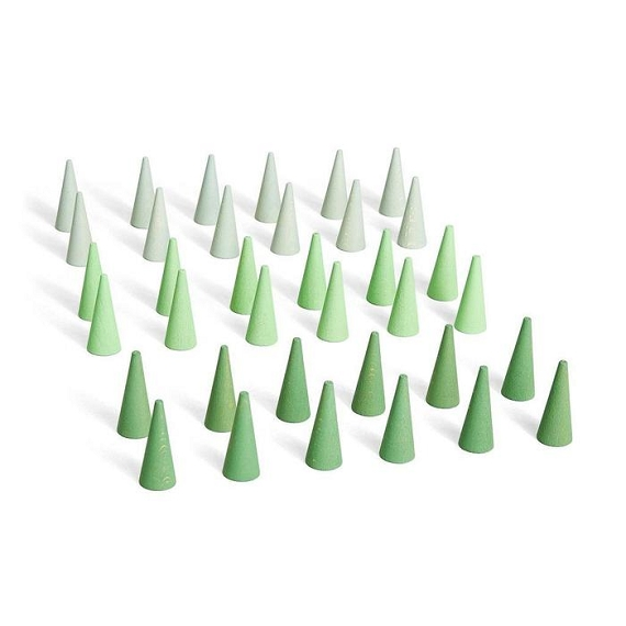Grapat Mandala Cones - 36 pcs - Greens