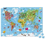 World Puzzle by Janod - 300 Piece