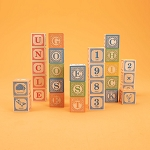 Classic ABC Wooden Blocks by Uncle Goose