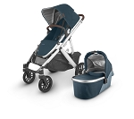 UPPAbaby Vista V2 Stroller - Finn (Deep Sea/Silver/Chestnut Leather)