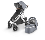 UPPAbaby Vista V2 Stroller - Gregory (Blue Melange/Silver/Saddle Leather)