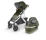 UPPAbaby Vista V2 Stroller - Hazel (Olive/Silver/Saddle Leather)