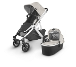 UPPAbaby Vista V2 Stroller - Sierra (Dune Knit/Silver/Black Leather)