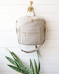 De Luxe and Co Diaper Anytime Backpack - Vegan Grey Leather