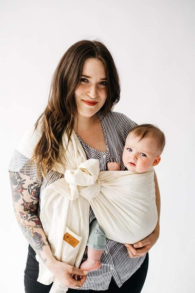 Kyte Baby Ring Sling - Aspen with Rose Gold Rings