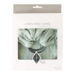 Kyte Baby Linen Ring Sling - Willow with Charcoal Rings