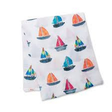 Lulujo Sailboat Swaddle
