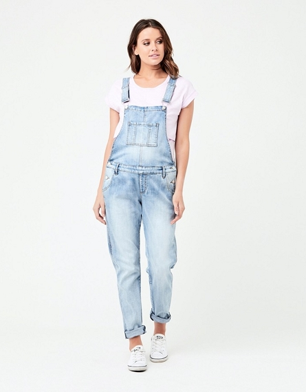 Denim Overalls - Pale Blue