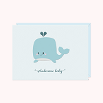 Halifax Paper Hearts Card - New Baby