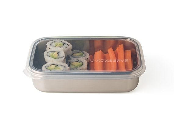 U Konserve Rectangular Container with Silicone Lid (25oz)