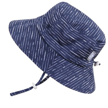 Jan and Jul Gro with Me Bucket Hat - Navy Waves