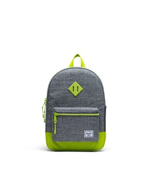 Herschel Heritage Youth Backpack XL - Limegreen Crosshatch