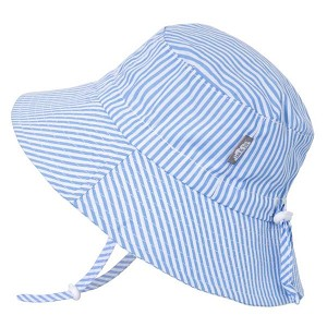 Jan and Jul Gro with Me Bucket Hat - Blue Stripes