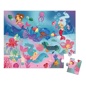 Mermaid Puzzle by Janod - 24 Piece