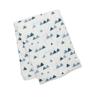 Lulujo Navy Triangles Swaddle