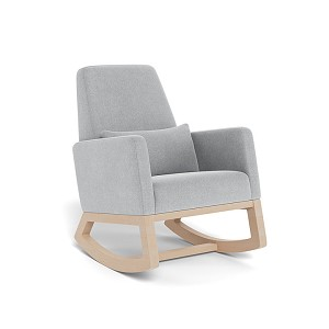 Joya Rocker in Nordic Grey with Clear Maple legs