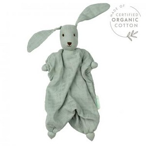 NEW FABRIC OPTION! Light Green Muslin Bunny with wool inner bonding doll