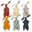 Six Muslin Fabric Colours for the Bunnies
