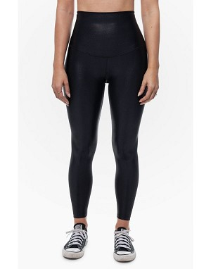 High Waisted Glossy Legging with 360 Degree Contour