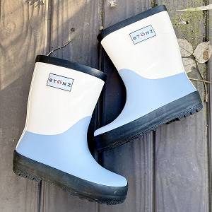 Duo Blue/Ivory Rain boot for sizes 4T - 12