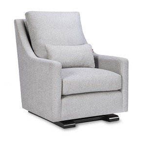 Luxurious and Modern Vera Glider Chair with Espresso Base